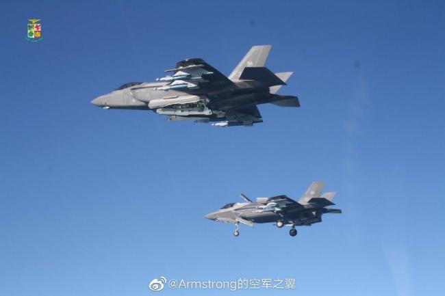"F35""野獸模式""飛行:外掛4枚500磅炸彈"