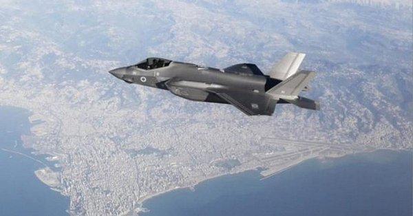 以色列F35I出没黎巴嫩领空,外挂导弹