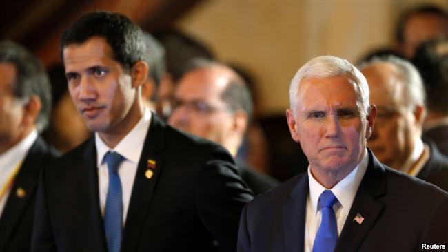 """美国称:与瓜伊多""""百分之百""""站在一起"""