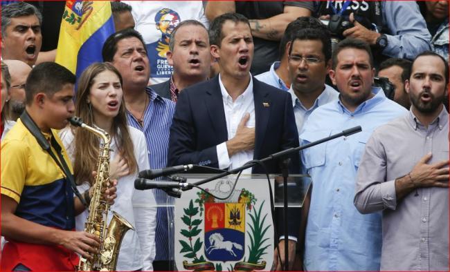 瓜伊多不顾逮捕威胁重返委内瑞拉