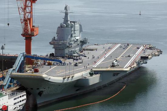 中国003航母舰体比尼米兹还宽?真造那么大并不科学