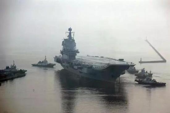 国产航母再海试 一个月后中国海军或正式坐拥双航母