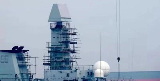 中国新型舰载雷达亮相 新一代护卫舰或呼之欲出
