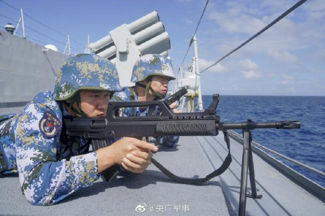 南部战区海军远海训练 穿过国际日期变更线