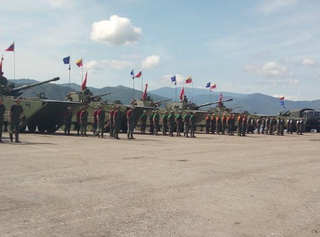 委内瑞拉海军陆战队演练 出动中国造战车