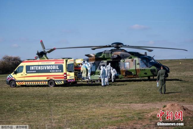 出动军用直升机 法国患者被送到德国治疗