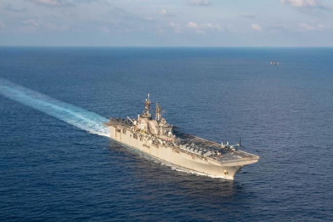 部署南海的美国号两栖攻击舰只带了6架F35B