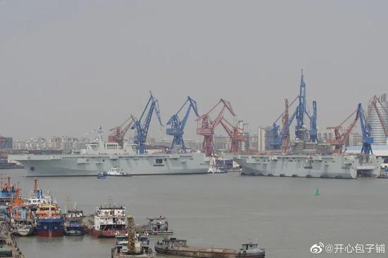 """半年两艘:中国为何急于让第2艘""""有短板""""的075舰下水"""