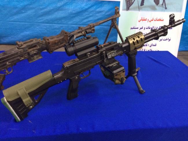 伊朗魔改RPD机枪:加装瞄准镜和导轨