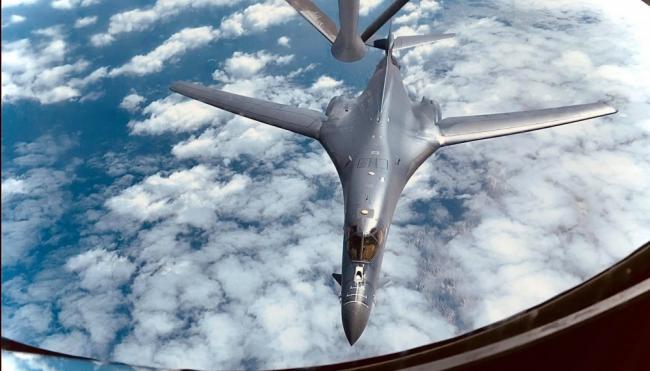 美军B1B枪骑兵战略轰炸机高清细节特写