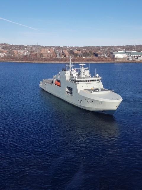加拿大海军获首艘北极巡逻舰 排水量超6千吨