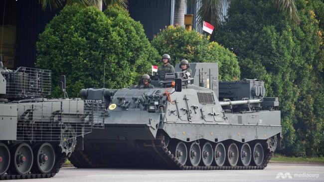 新加坡独立日阅兵彩排,出动豹2坦克