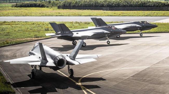 实拍荷兰空军F35战机:一共3架全在这儿了