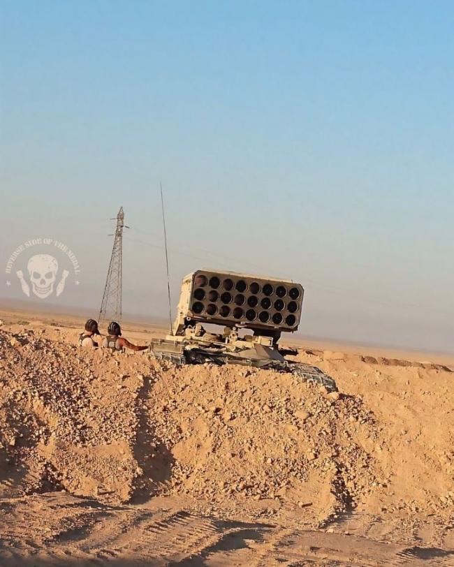 叙利亚战场上的屠夫 TOS-1A温压弹火箭炮