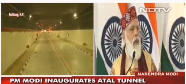 印度喜马拉雅山隧道开通 可加速运兵至中国边界