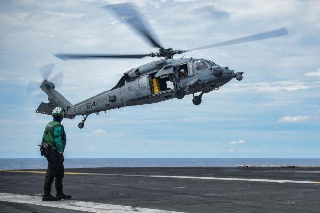 里根号航空母舰战斗群年内第四次部署至南海