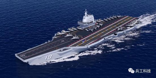 中国新航母动态曝光 美媒:从卫星图看可能有10万吨