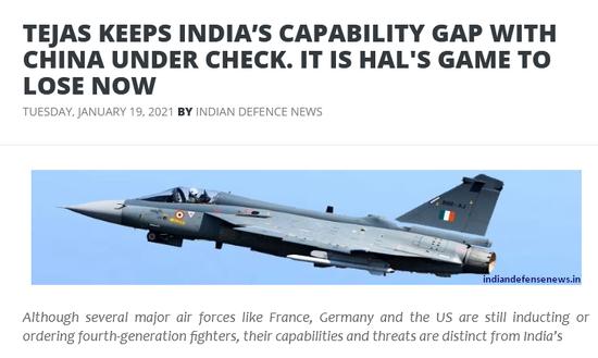 印媒:印度国产三代机刚起步 10年内都无法匹敌中国