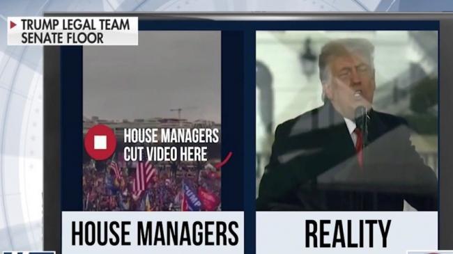 川普辩护团队在参议院展示的视频
