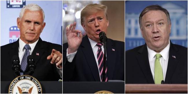 川普、彭斯、蓬佩奥谁支持率最高?民调曝光