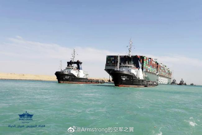 终于脱困 苏伊士运河恢复通航
