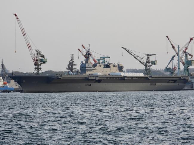 正在进行改造的日本准航母 将搭载F-35B