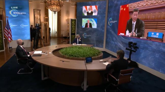 拜登与习近平气候峰会首同台 习近平有段话没说