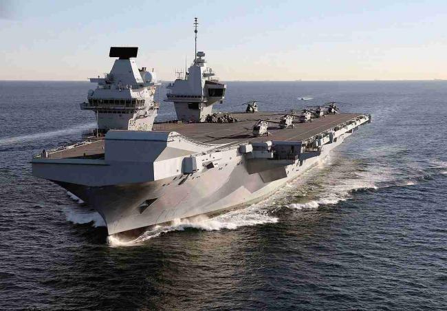 来亚太的英航母编队实力如何?40架舰载机只带了8架