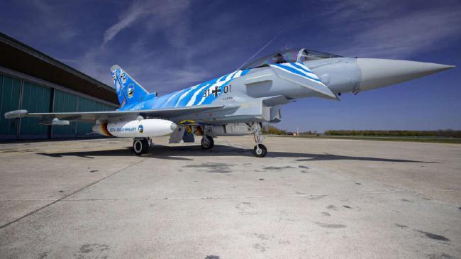 酷炫!德國臺風戰機的老虎塗裝