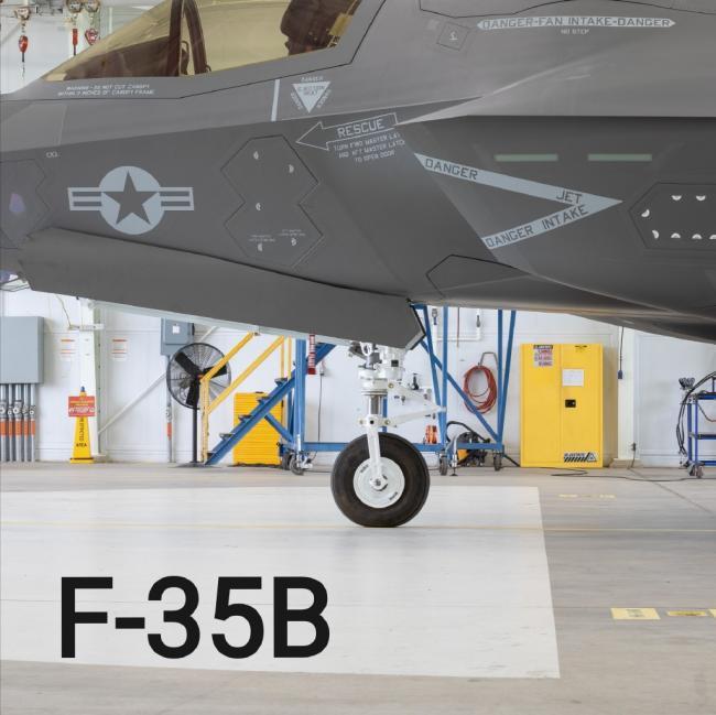 """F-35C戰鬥機的""""麒麟臂"""":前起落架粗壯"""
