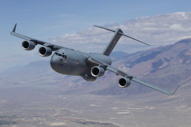 美军C-17飞台 画红线阻止中共趁疫情犯台