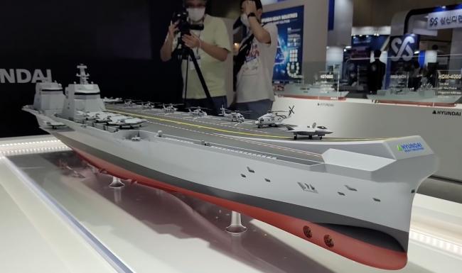 韩国多个国产航母方案同时曝光 美媒:比想象中更大