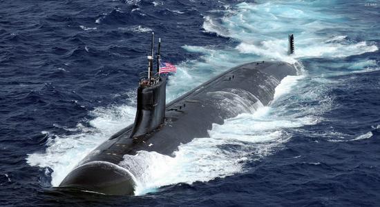 """设计思路重返""""大国对抗"""" 美打造史上最贵攻击核潜艇"""