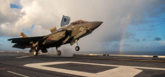 美军F35B为何要登日本航母 美媒:就为对抗中国