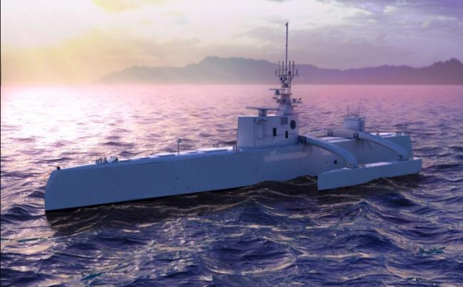 """美国全新作战模式雏形初现 无人战舰发射""""标准""""6导弹"""