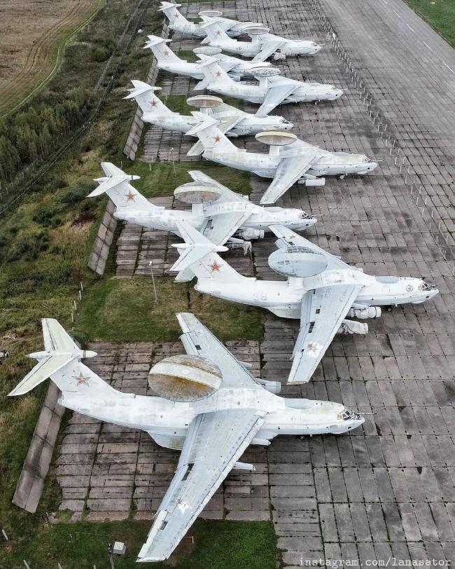 穷得用不起了?俄A50预警机成堆报废