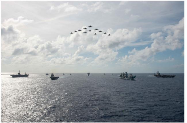 """六国南海大型军演 印太""""北约化"""" 防卫威慑中国"""