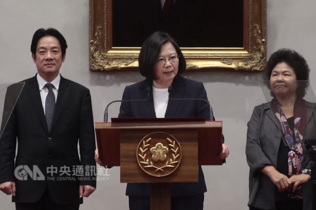 蔡英文:中国蛮横打压 我们不会再忍让