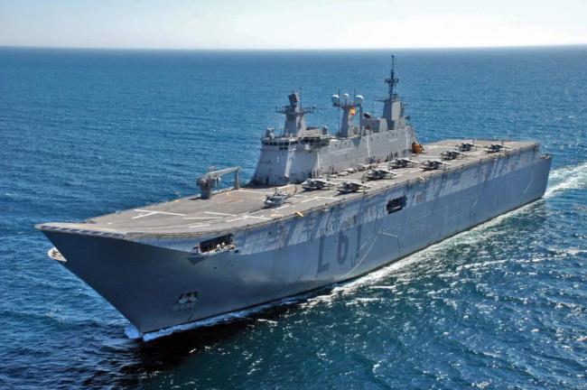 埃及与西班牙海上军演双航母大秀武力