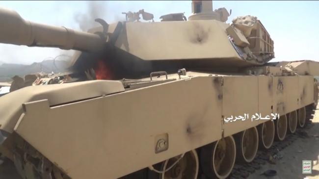 沙特又一辆M1坦克被游击队缴获了