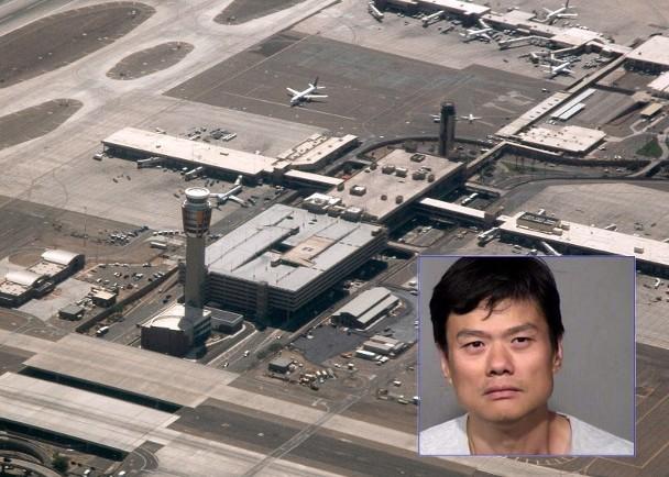 """中国男子""""入侵""""美国机场禁区 被捕"""