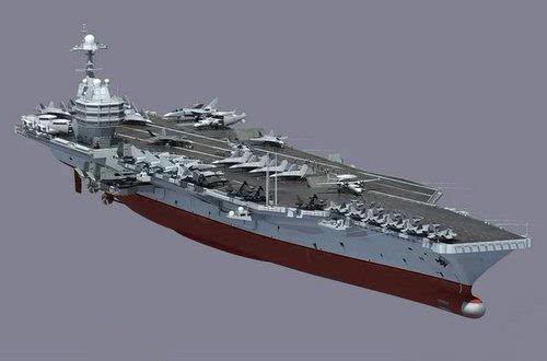 美媒:中国将造10万吨级核航母 与美航母几乎没差别
