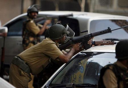 (图文)印度恐怖袭击:反恐司令和遭遇战专家战死