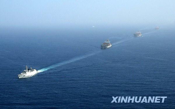 (图文)历史性一刻 海军舰艇编队抵达索马里海域首次护航4艘中国商船