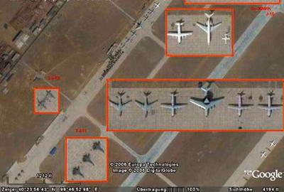图文:Google地图最新图像泄露中国军事机密!