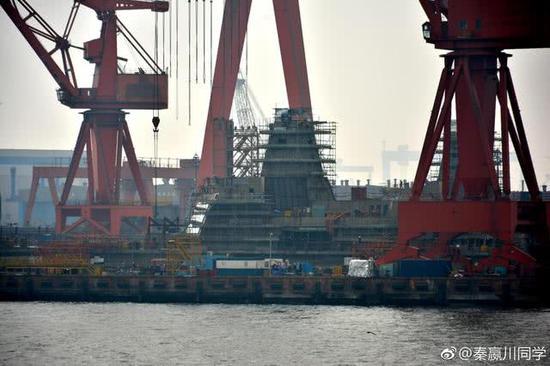 中国海军055大驱建造进入爆发之年 今年有望下水3艘