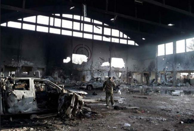 叙利亚空军基地被以军空袭后成废墟