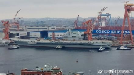 中国首艘国产航母动了一下 印媒:给美日印敲响警钟