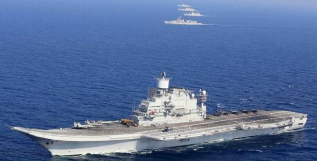 印度海军放狠话:50战舰全天候盯死印度洋上中国军舰