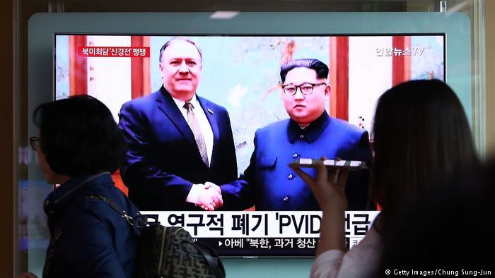 Nordkorea Mike Pompeo Vorbereitung Gipfeltreffen zwischen Donald Trump und Kim Jong Un (Getty Images/Chung Sung-Jun)